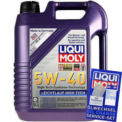 5L Original Liqui Moly Leichtlauf High Tech 5W-40 Motoröl Engine Oil