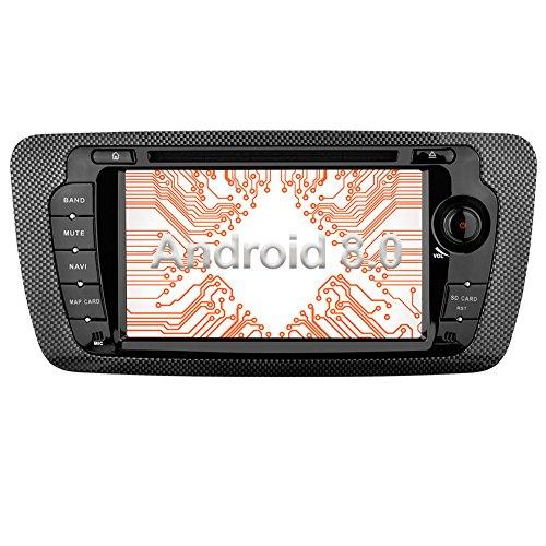 Ohok 7 Zoll Bildschirm 2 Din Autoradio Android 8.0.0 Oreo Octa Core 4G+32G Radio mit Navi Moniceiver DVD GPS Navigation Unterstützt Bluetooth WLAN DAB+ OBD2 für Seat Ibiza 2009-2013