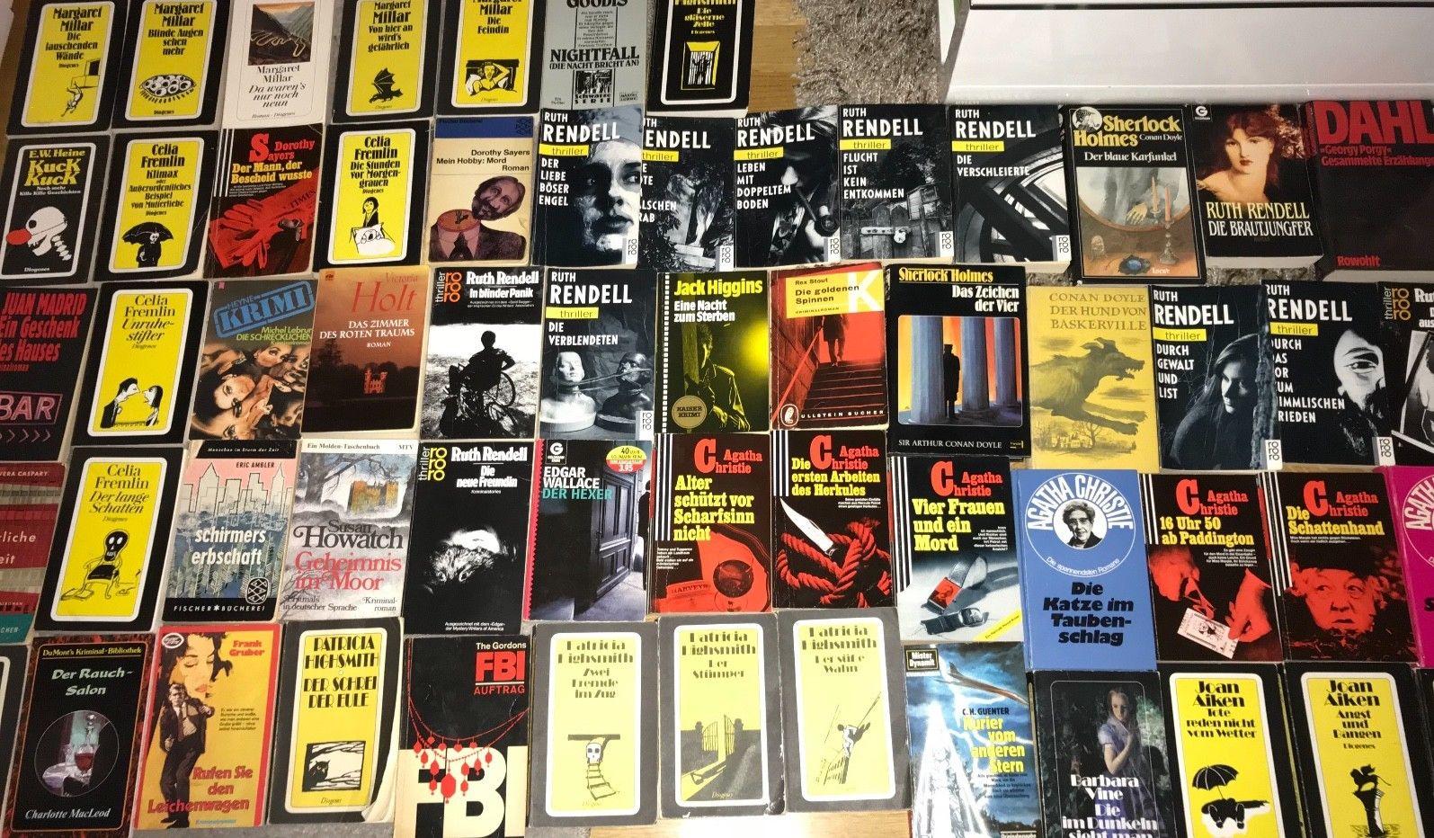 Büchersammlung Buchpaket Spannung 75 x Krimi Oldies Klassiker Thriller Konvolut