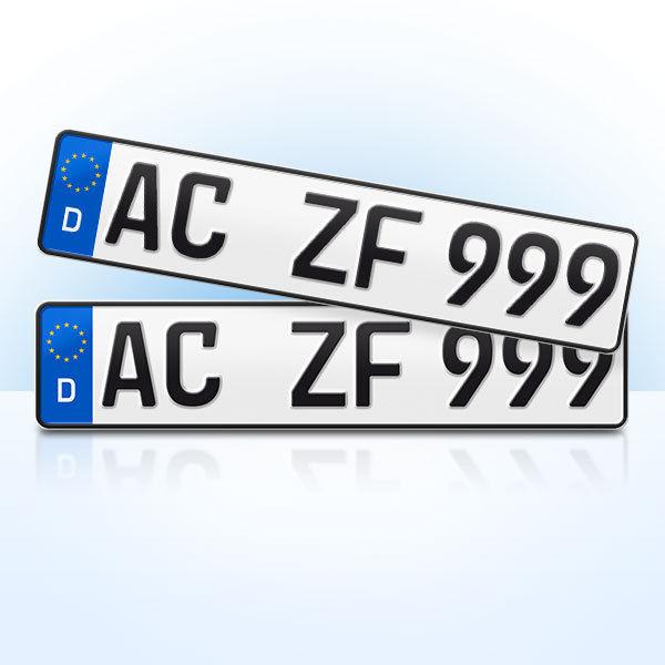 2 Stück EU KFZ Nummernschilder | Kennzeichen | Autoschilder | ALLE MARKEN