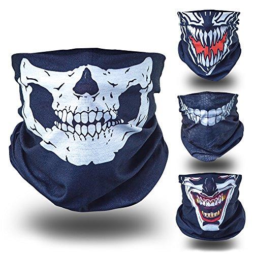 BlackNugget Bedrucktes Multifunktionstuch mit Ausgefallenem Design - Hochwertige Sturmhaube als Wärm- und Schutztuch - Halstuch, Face Shield, Gesichtsmaske