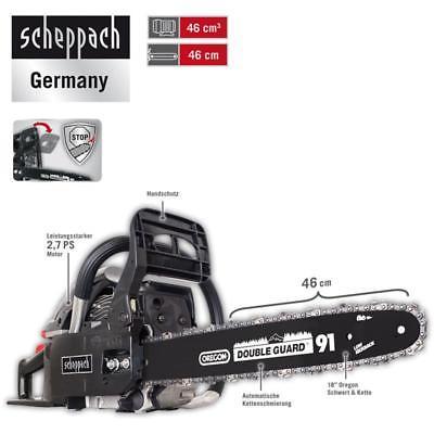 Scheppach Benzin Kettensäge 2,7 PS Motorsäge 46cm mit Oregon-Schwert CSH46