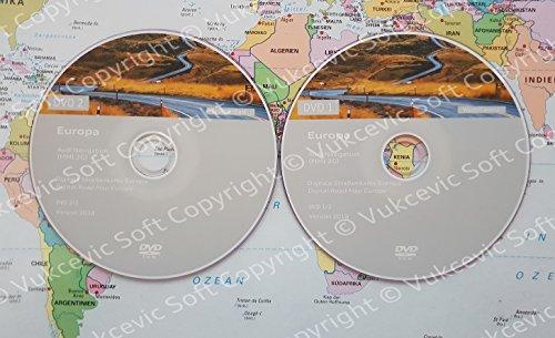 Audi MMI 2G High Navigation – Europa 2018 DVD1+DVD2