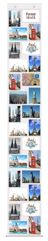 10 x 15 Fototaschen für 28 Fotos Fotowand Fotovorhang Fotogalerie Foto Galerie