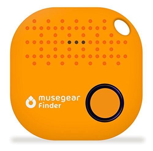 musegear Schlüsselfinder mit Bluetooth App I Version 2 I Keyfinder Laut für Handy in Orange I GPS Ortung/Kopplung I Schlüssel Finden