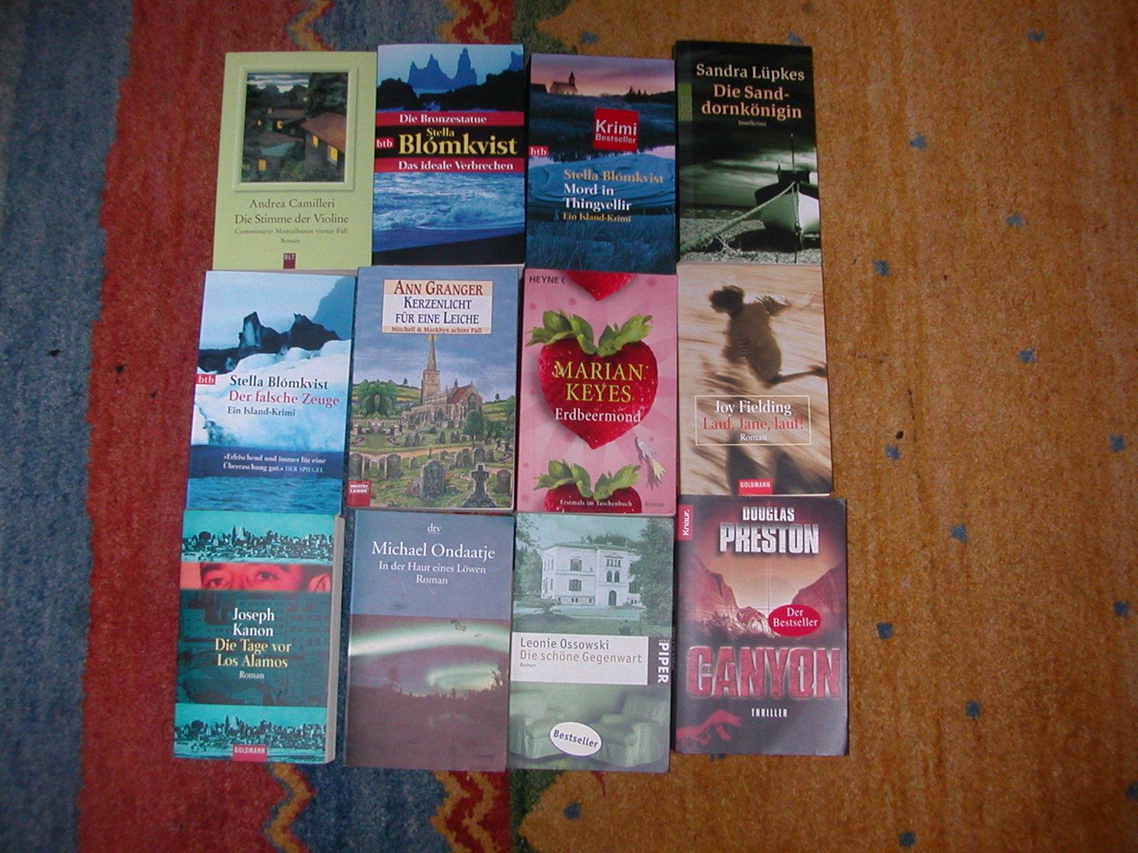 Buchpaket: ca. 55 Stück: Romane (Krimi, Thriller usw.) s.h. Bilder