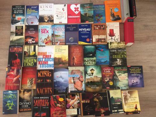 60 Bücher Thriller Romane Bücherpaket Sammlung