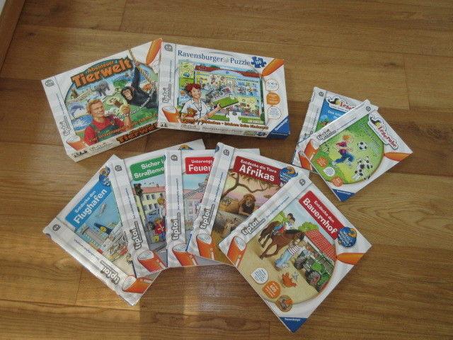 Ravensburger Tiptoi Set: 7 Bücher, 1 Spiel, 1 Puzzle, TOP