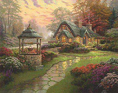 Schmidt Spiele 58463 - Thomas Kinkade, Haus mit Brunnen, 1000 Teile