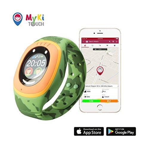 MyKi GPS Uhr Kinder, Smartwatch mit GPS Tracker, Handy Ortung, SOS und App Tracking in Deutsch (Militar) - Beschränkte Auflage