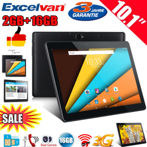 "Excelvan 10.1"" 1280*800 Android6.0 2+16GB Dual SIM Tablet PC 3G Smartphone OTG"