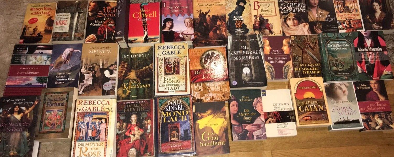 Büchersammlung Nur Historische Romane 35 Stk. Buchpaket geb. TB Konvolut TOP!