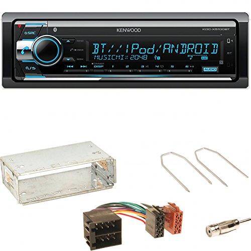 Kenwood KDC-X5100BT Autoradio Bluetooth CD USB AUX 1-DIN Einbauset für Opel Astra F G Corsa B Zafira A