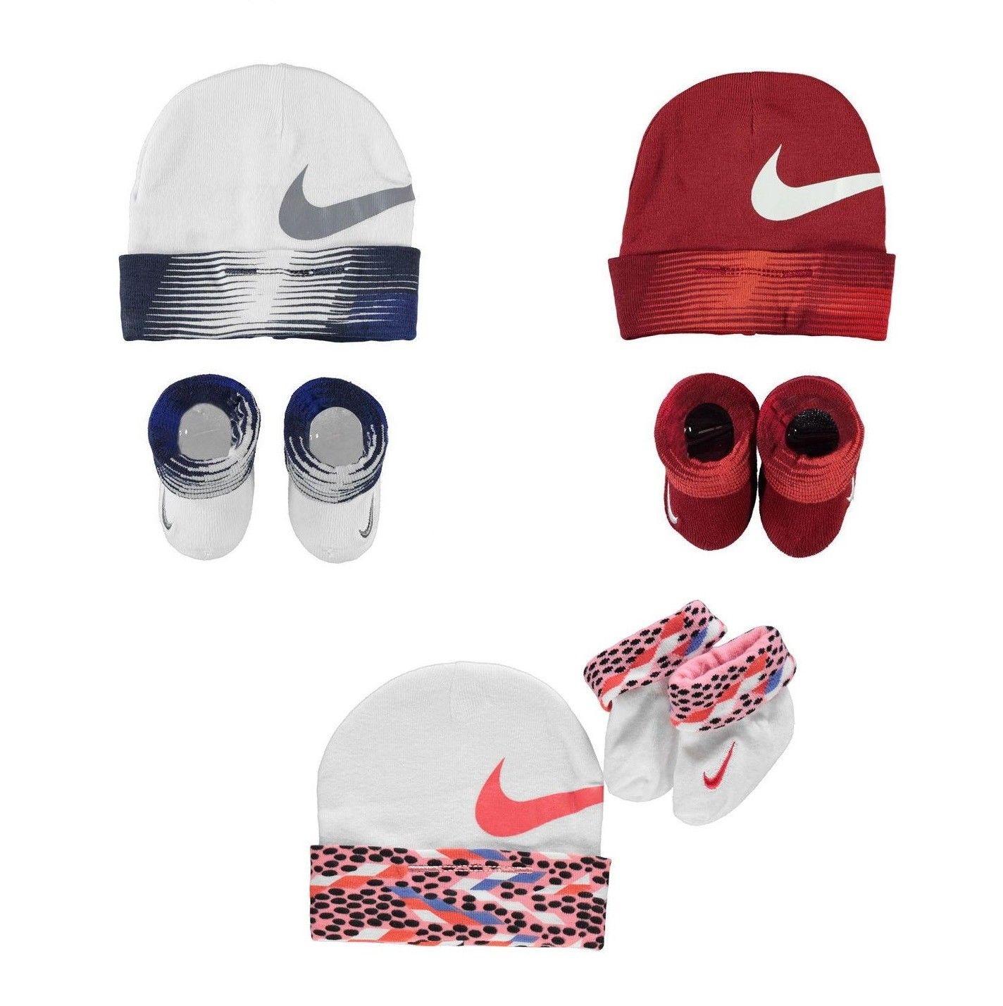 Nike Baby Socken Mütze Set 2 Teile Schuhe Neugeborene 0-6 Monate