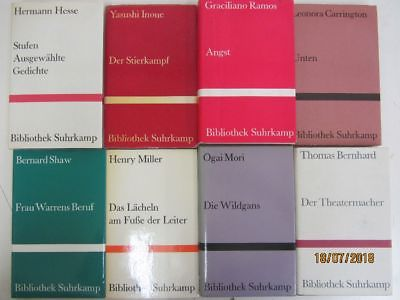 70 Bücher Bibliothek Suhrkamp suhrkamp Verlag Romane Erzählungen u.a.