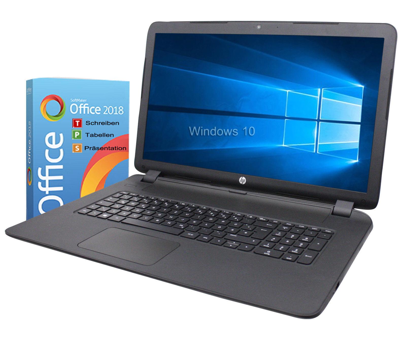 HP Notebook 17 Zoll HD+ Dual Core 2x 2,4GHz 4GB 1TB Win10 / Office 2018