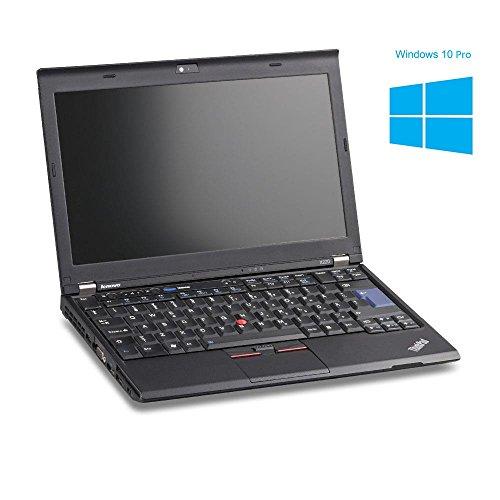 Lenovo ThinkPad X220 Notebook / Laptop | 12.5 Zoll Display (1280 x 768) | Intel Core i5-2520M @ 2,5 GHz | 4GB DDR3 RAM | 320GB HDD | Windows 10 Pro vorinstalliert (Zertifiziert und Generalüberholt)