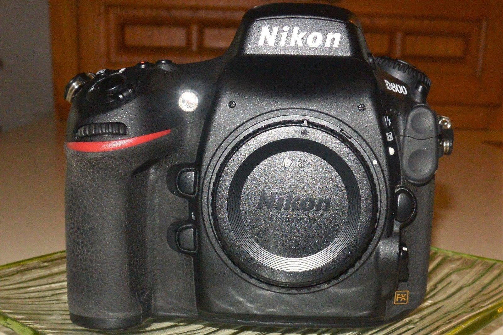 PRISTINE Nikon D800 36.3MP Digital camera FX Format ONLY 9761 clicks
