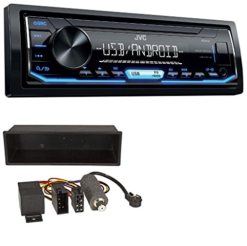 caraudio24 JVC KD-X151 1DIN USB Aux MP3 Autoradio für VW Polo T4 Passat Golf (98-04)