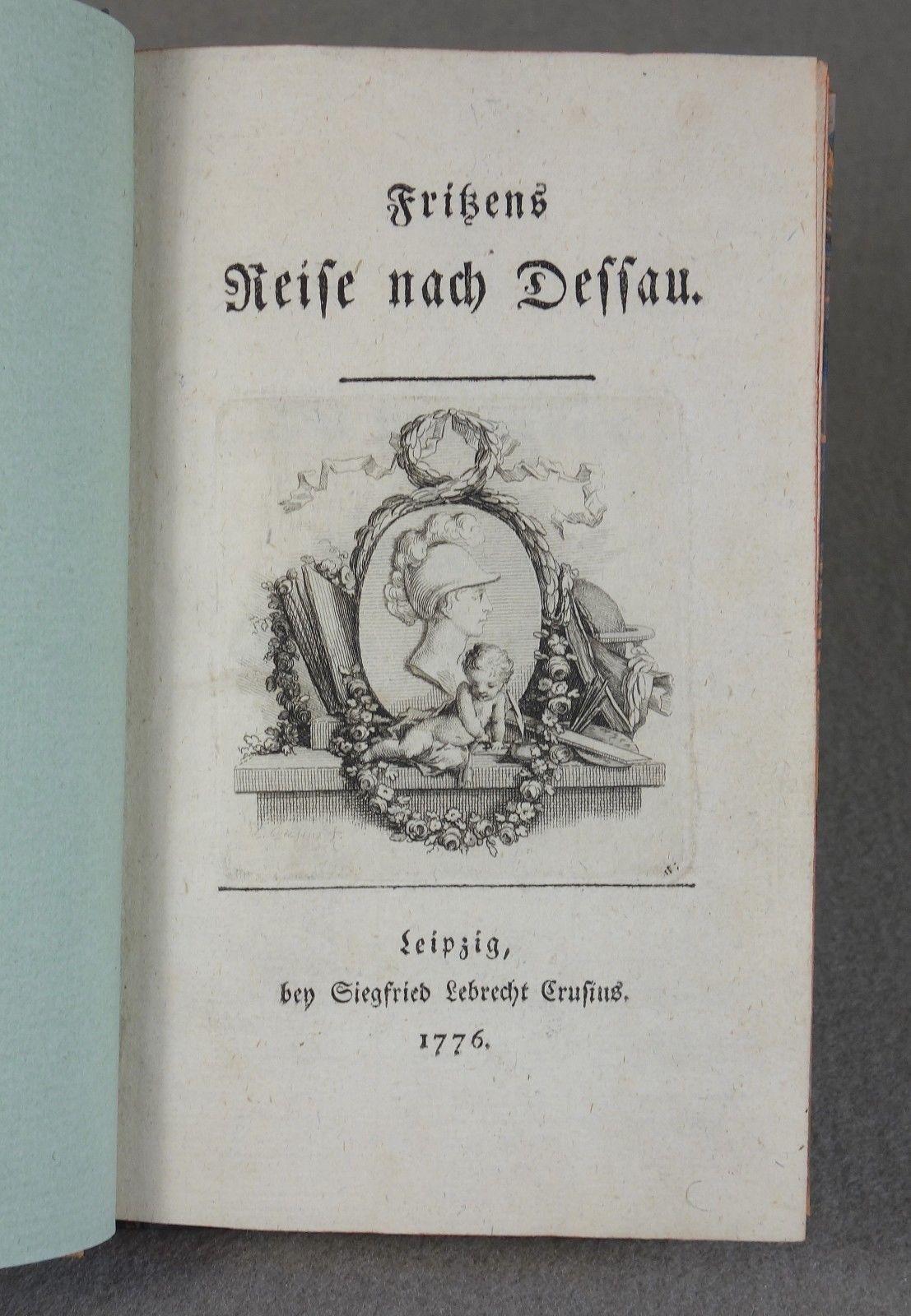 1776 - AUFKLÄRUNG - Philanthropinum Dessau - EMPFINDSAMKEIT Erstausgabe Basedow