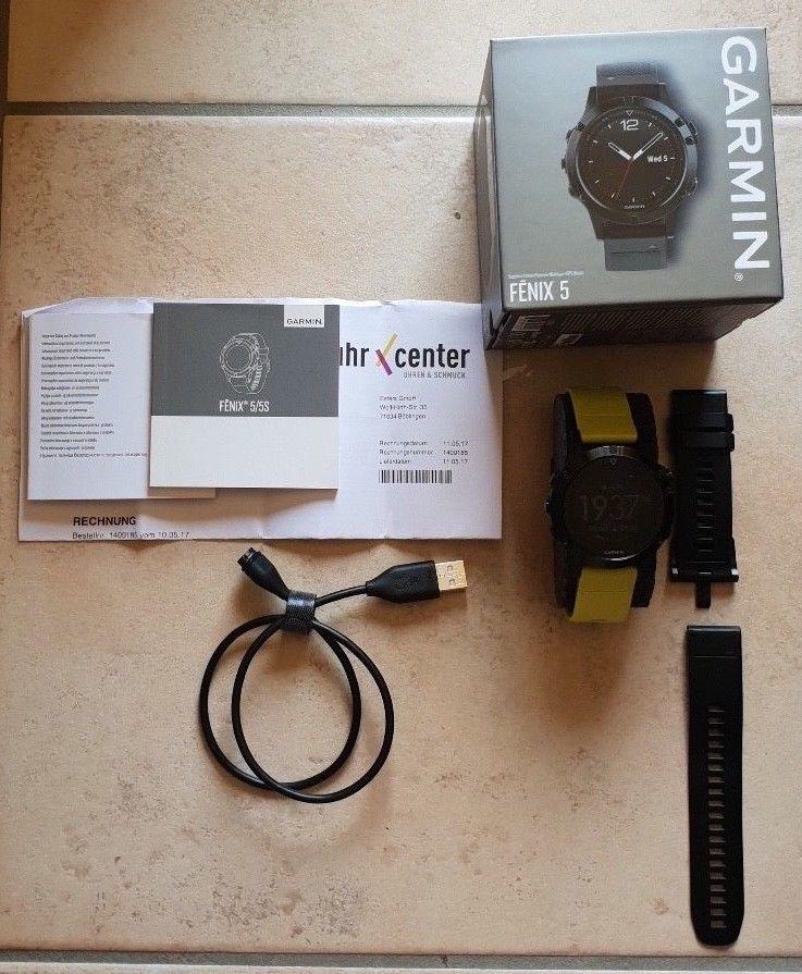 Garmin Fenix 5 Saphir GPS Multisport Smartwatch inkl. OVP , Artikel 010-01688-11