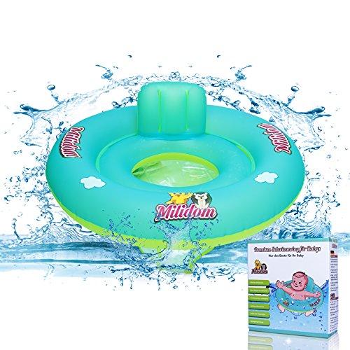 Milidom Baby Schwimmhilfe I Schwimmtrainer für Kinder I Baby Schwimmsitz 12 Monate - 6 Jahre