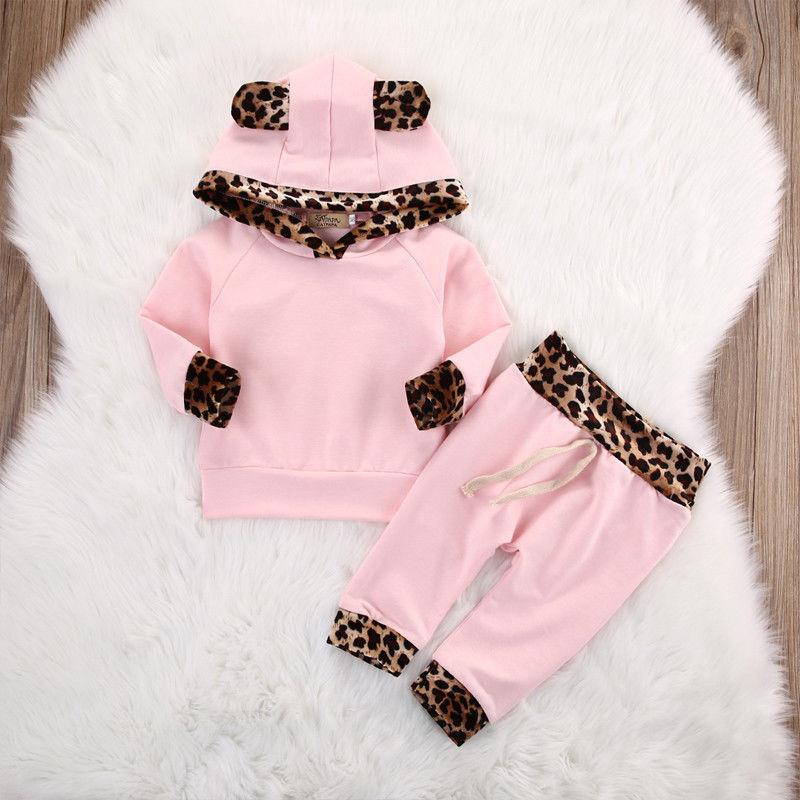 Baby Mädchen Jungen Outfit Kleidung Pullover Spielanzug Hose Set Kapuzenjacke DE