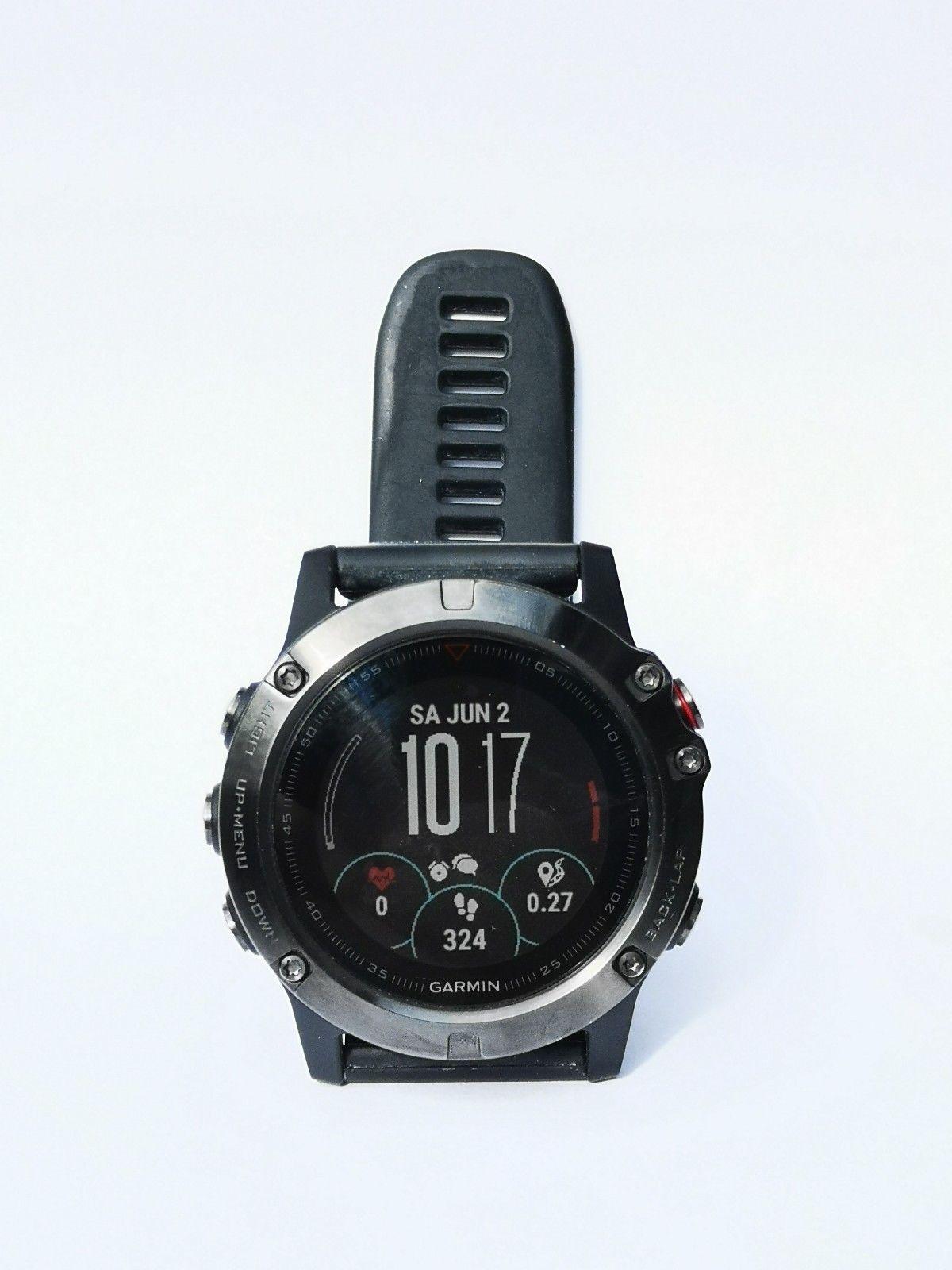 Garmin Fenix 5X - TOP Zustand - GPS Multisport Smartwatch - Saphir