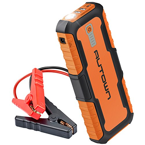 AUTOWN Auto Starthilfe Externes Akku Ladegerät 21000mAh 1000A Tragbare Autobatterie Anlasser Spitzenstrom mit LED Taschenlampe für Laptop, Smartphone, Tablet und mehr