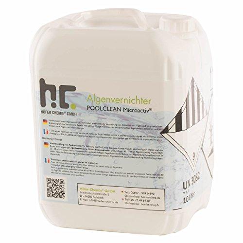 Höfer Chemie 10 L Pool Algenvernichter - Anti Algenmittel für Schwimmbad & Pool - schnelle Wirkung bei Algen
