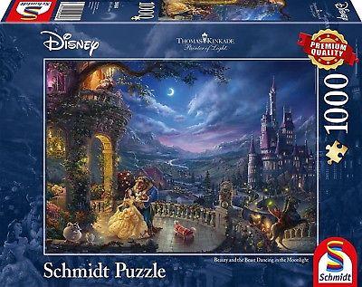 Schmidt 59484 - Puzzle, Thomas Kinkade, Disney, Die Schöne und das Biest, Tanz..