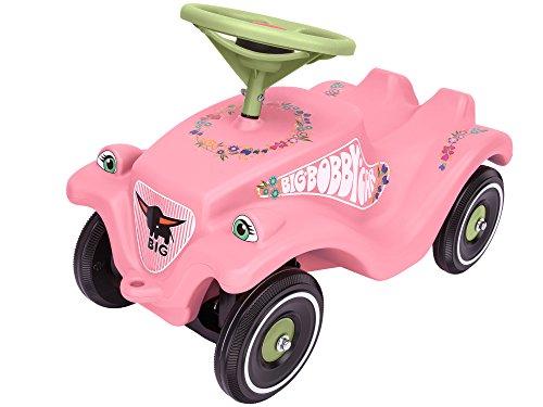 BIG Spielwarenfabrik Big 800056110 - Bobby-Car-Classic Flower Kinderfahrzeug, Rosa