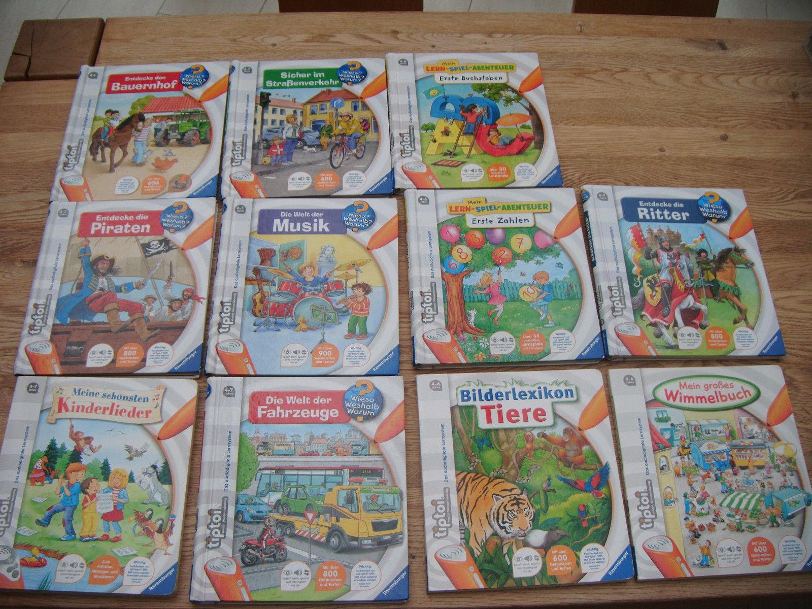 Tip Toi, Tiptoi, Sammlung, Konvolut, Set, 2 Spiele,11 Bücher, 2 Puzzle, 4 - 9 J.