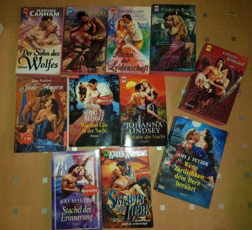 historische Liebesromane 11 Romane Bücher Bücherpaket