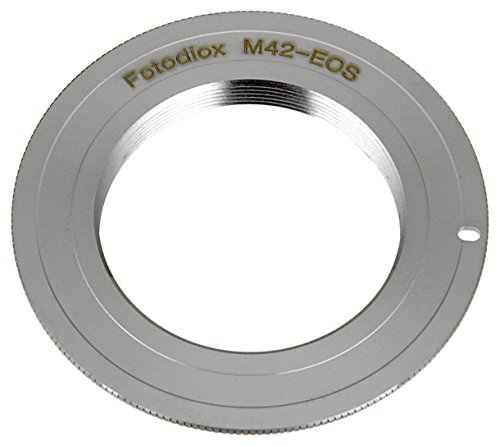 Fotodiox Pro Chrome (Type 1) Lens Mount Adapter, M42 (42mm x1 Thread Screw) Lens to Canon EOS Adapter, for Canon EOS 1D, 1DS, Mark II, III, IV, 1DC, 1DX, D30, D60, 10D, 20D, 20DA, 30D, 40D, 50D, 60D, 60DA, 5D, Mark II, Mark III, 7D, Rebel XT, XTi