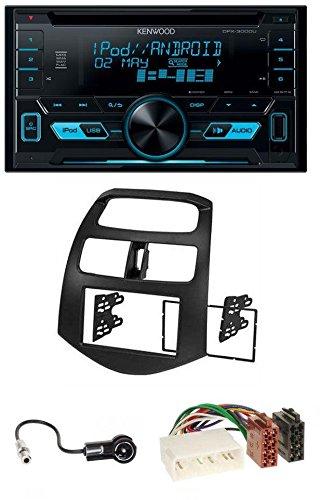 caraudio24 Kenwood DPX-3000U 2DIN USB Aux MP3 CD Autoradio für Chevrolet Spark KLM 2012-2013