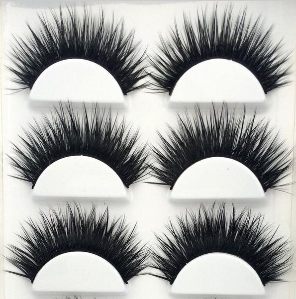 Unechte Wimpern 6xPaar Damen Falsche künstliche 1xBOX Handgemacht Eye Lashes