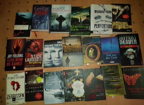 Bücherpaket 20  Bücher Spannung  Krimi  Thriller Romane Taschenbücher