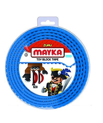 Mayka 34641 Lego Klebeband - 2 Studs - Blau - Größe Medium (2 m)