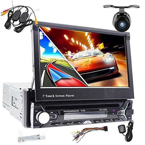 foiioe Autoradio/Moniceiver/Naviceiver GPS Navigator + Navi Software mit europäischen Navi (38Länder) + Bluetooth Freisprecheinrichtung (Import Kontakte aus Adressbuch) + 17,8cm/18cm HD Touchscreen-Display 16: 9(Breitbild) + mit DVD/CD-Laufwerk + USB