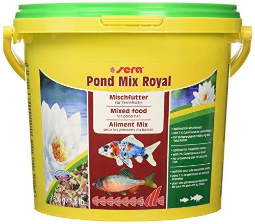 Sera 07102 pond mix royal 3800 ml - Futtermischung aus Flocken, Sticks und mit 7% Gammarus als Leckerbissen für alle Teichfische