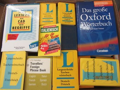 44 Bücher Wörterbücher verschiedene Sprachen verschiedene Fachthemen
