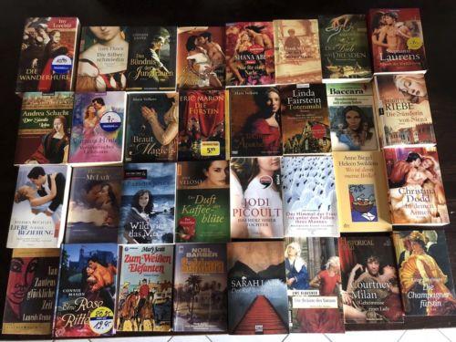 Bücherpaket - Romane, Liebesromane, Historische Romane - über 90 Bücher