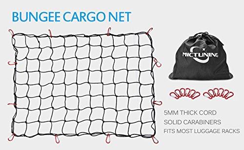 MICTUNING KFZ Gepäcknetz,Auto Kofferraum Netz,Cargo-Netz
