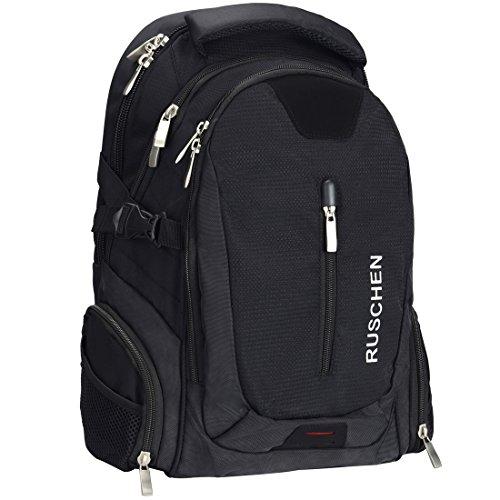 Ruschen Rucksack Herren mit ergonomischem Design, Premium Laptop Rucksäcke für 15,6 Zoll Notebook, Backpack/Schulrucksack / Daypack für Männer und Damen