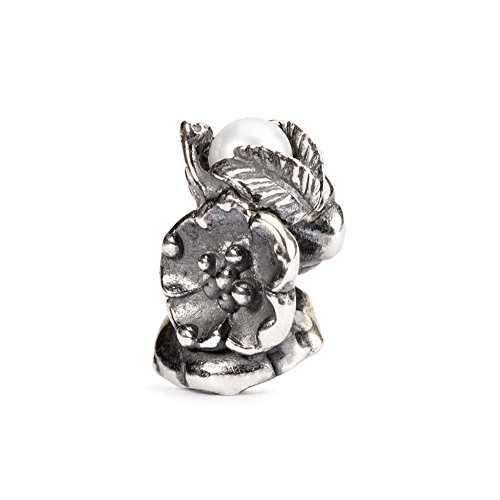 Trollbeads Damen-Bead 925 Sterling Silber weiß TAGBE-00031