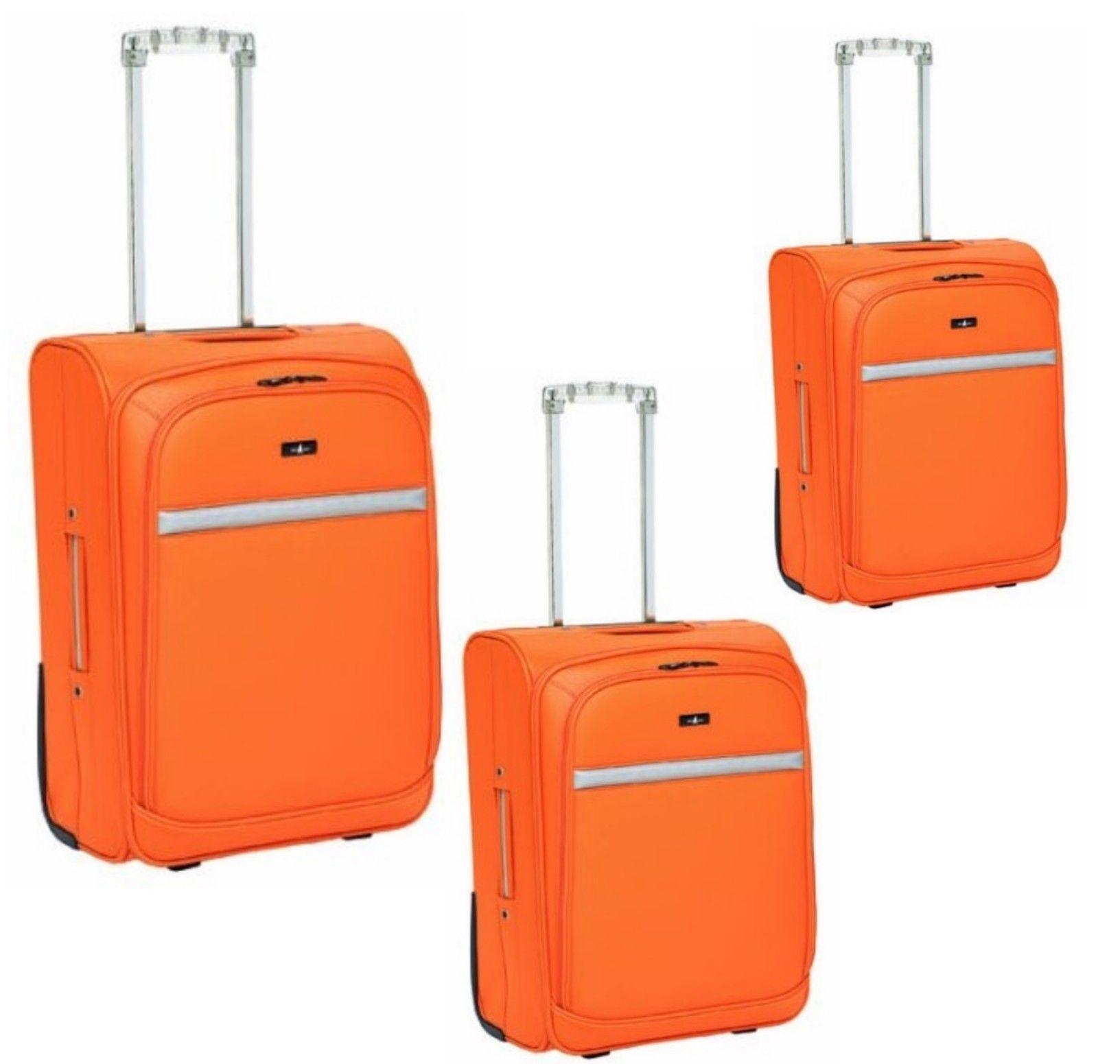 3Tlg Kofferset Reisekoffer Trolley Reisetasche Handgepäck Set Keine Hartschale