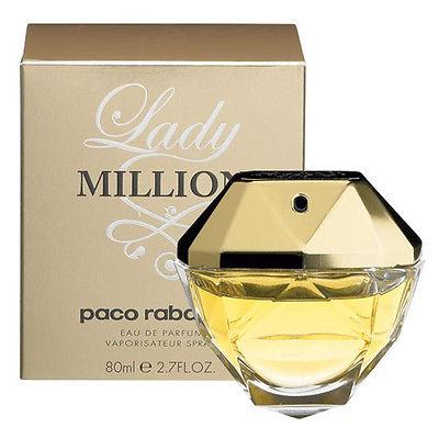 Paco Rabanne Lady Million 80ml EDP Spray Retail Boxed Sealed