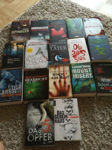 Bücherpaket Krimis/ Thriller 17 Stück