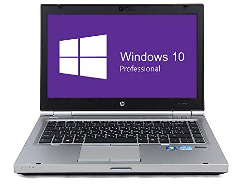 HP Notebook | Elitebook 8470p | 14 Zoll Display (1366 x 768) | Intel Core i5-3320M @ 2,6 GHz | 8GB DDR3 RAM | 250GB SSD | DVD-ROM | Windows 10 Pro vorinstalliert (Zertifiziert und Generalüberholt)